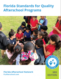 group of children enjoying outdoor play during afterschool program; cover image for report